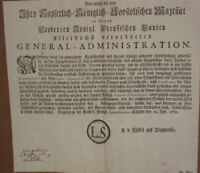 1760 BROADSIDE GERMAN COIN EDICT CHRISTIANS AND JEWS MAKING