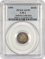 1800 H10C PCGS AU53 LM-1 EX: INDIANA COLLECTION - EARLY HALF DIMES