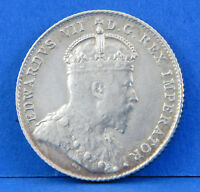 1908 XF KING EDWARD VII CANADIAN DIME 10 CENT CANADA SILVER
