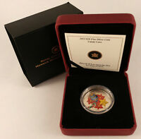 CANADA 2013 $20 HOLIDAY CANDY CANE   MURANO GLASS FINE 99.99  SILVER COIN