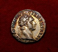 MS / AU DOMITIAN GERMANICUS.VERY RARE DENARIUS.SPECTACULAR G