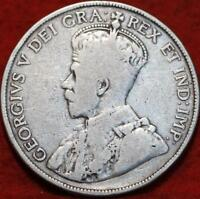 1919 CANADA 50 CENTS SILVER FOREIGN COIN