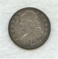 1833 CAPPED BUST HALF DOLLAR WITH F/VF DETAILS
