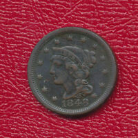 1848 BRAIDED HAIR LARGE CENT A  CIRCULATED LARGE CENT SHIPS FREE
