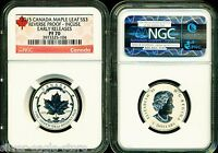 2015 $3 CANADA SILVER MAPLE LEAF INCUSE NGC PF70 UCAM REVERS