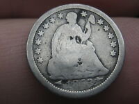 1853 P SEATED LIBERTY HALF DIME- WITH ARROWS