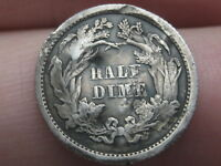 1862 SEATED LIBERTY HALF DIME- OLD TYPE COIN