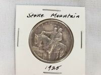 1925 US STONE MOUNTAIN HALF DOLLAR SILVER .9000, WEIGHT 12.5 GRAMS