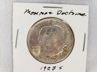 1923S US MONROE DOCTRINE HALF DOLLAR SILVER .9000, WEIGHT 12.5 GRAMS