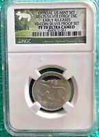2017 S SILVER QUARTER PROOF EFFIGY MOUNDS EARLY RELEASES NGC PF 70 ULTRA CAMEO