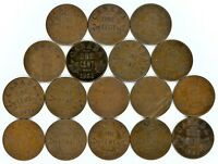 CANADA SMALL CENT DATE SET 1920 TO 1936 INCLUDES KEY DATES 17 COINS