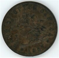 PROVINCE OF CANADA 1857 ST GEORGE SLAYING THE DRAGON PENNY TOKEN PC 6D