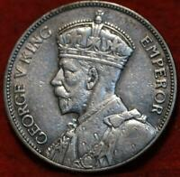 1935 NEW ZEALAND ONE FLORIN SILVER FOREIGN COIN