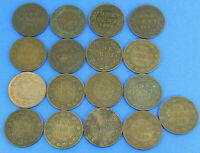 17 PIECE LOT EDWARD VII  1902 1907 ONE CENT CANADIAN COINS
