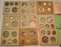 1955 1956 1957 1958 P D S PARTIAL MINT SETS LOT  39  COINS U