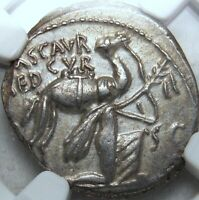 NGC AU SCAURUS SCORPION DENARIUS FOR AEDILICIAN GAMES WITH K