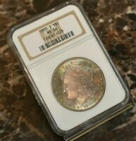 1880 S MORGAN SILVER DOLLAR NGC MS 66 RAINBOW TONED 1880 S $