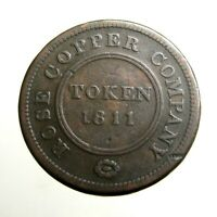 1811 LARGE COPPER PENNY ____TRADE TOKEN____ROSE COPPER COMPA