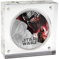 2016 STAR WARS KYLO REN SILVER PROOF $2 COIN   THE FORCE AWAKENS