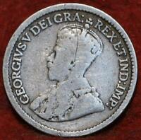 1912 CANADA 5 CENTS SILVER FOREIGN COIN