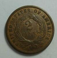 1871 TWO CENT COPPER VERY GOOD AUCTION