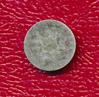 1857 THREE CENT SILVER   CIRCULATED COIN SHIPS FREE