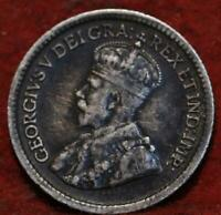 1914 CANADA 5 CENTS SILVER FOREIGN COIN