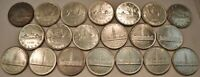 LOT OF  20  CANADA SILVER DOLLARS 1935 1936 1937 1939 HIGHER