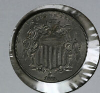ORIGINAL 1868 SHIELD NICKEL - ALMOST UNCIRCULATED CONDITION