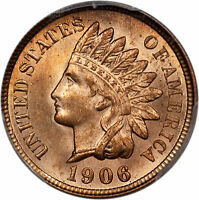 1906 INDIAN HEAD PENNY 1C PCGS MINT STATE 65 RD 36623583 BEAUTIFUL RED SMALL CENT GEM