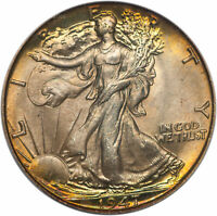 1947 WALKING LIBERTY HALF DOLLAR 50C PCGS MINT STATE 66  CAC APPROVED 36574474 TONED