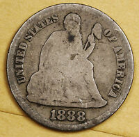 1888-S SEATED LIBERTY DIME.  G.-V.G.  96099