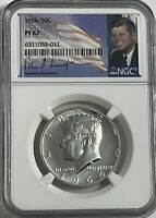 1964 NGC PF67 PROOF SILVER KENNEDY HALF DOLLAR JFK COIN FIRST YEAR OF ISSUE 50C