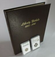COMPLETE LIBERTY HEAD NICKEL ALBUM COLLECTION W/ NGC 1912-S VG8, ANACS 1885 FR2