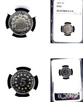 1875 5C PR65 NGC- SHIELD NICKEL---