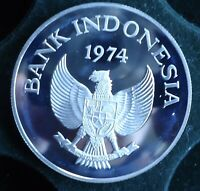 WWF 28.28 GRAM .925 SILVER COIN INDONESIA 2000 RP 1974 WORLD