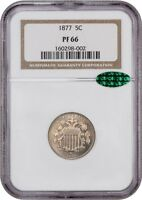 1877 5C NGC/CAC PR 66 -  PROOF-ONLY ISSUE - SHIELD NICKEL