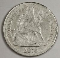 1876-S SEATED LIBERTY DIME.  CIRCULATED.  119465