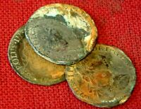 3NO UNCLEANED PIECES OF 8 OR 8 REALES 1783 EL CAZADOR  THE H