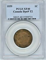 CANADA 1859 CENT PCGS XF40 DP 9 2