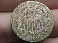 1871 TWO 2 CENT PIECE-  DATE