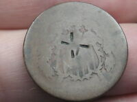 1864-1872 TWO 2 CENT PIECE- CIVIL WAR TYPE COIN- COUNTERSTAMPED