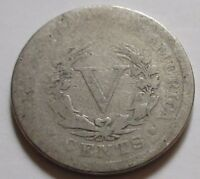 1898 UNITED STATES LIBERTY FIVE CENTS NICKEL COIN.  RJ244