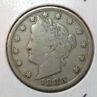 1888  FINE   LIBERTY NICKEL    BETTER DATE COIN