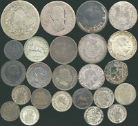 24 OLD SILVER COINS FROM GERMAN STATES 1744 1869