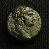 19 SYRIA ANTIOCH EMPEROR NERO RV LARGE S C WREATH 9.28 GRAMS 19MM AD 54 68