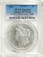 1901 DBL DIE REV $1 PCGS EXTRA FINE  DETAILS VAM-3 SHIFTED EAGLE  TOP-100 MORGAN DOLLAR