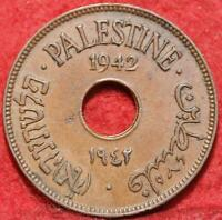 1942 PALESTINE 10 MILS FOREIGN COIN
