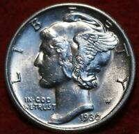 UNCIRCULATED 1930 S SAN FRANCISCO MINT SILVER  MERCURY DIME