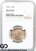 1921 STANDING LIBERTY, FULL HEAD, NGC AU 55 FH   KEY DATE, AVIDLY PURSUED